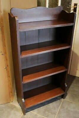 Good Quality Edwardian  Solid Oak Bookcase   Excellent Condition