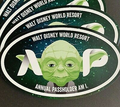 Yoda Oval Annual Passholder Car, SUV, Gift Magnet Disney World / Disneyland