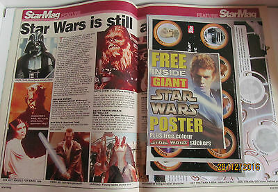 Star Wars Mag Poster Stickers Complete Mint 2002