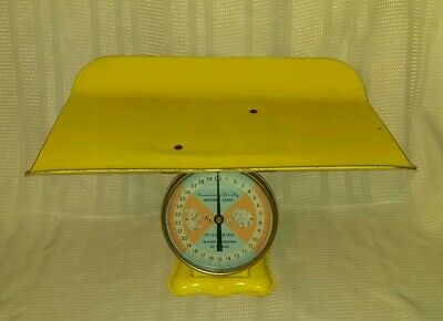 Vintage American Family Scale Co. 1960s Metal Nursery Scale