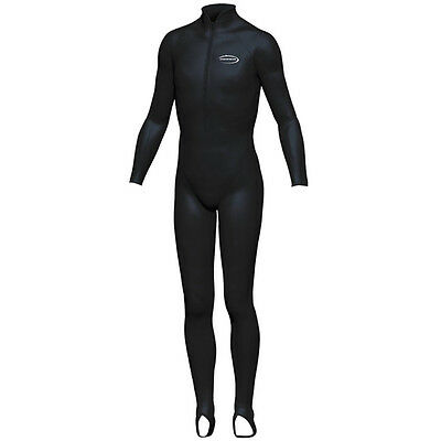 Mirage HOODLESS Kids Lycra Long UV Sun Stinger Suit Black Size 2-14