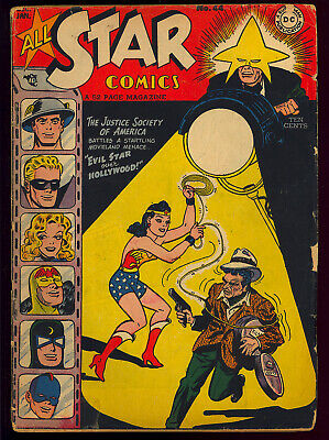All Star Comics #44 Unrestored Wonder Woman Golden Age DC Comic 1948 GD+
