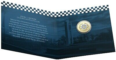 2019 Australia $2 UNC Carded 'C' RAM Coin - Police Remembrance - Lest We Forget