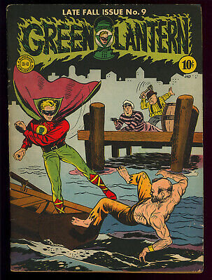 Green Lantern #9 Nice Unrestored Golden Age DC Superhero Comic 1943 VG