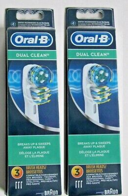 6 Braun Oral B Dual Clean Toothbrush Replacement Brush Heads Refill