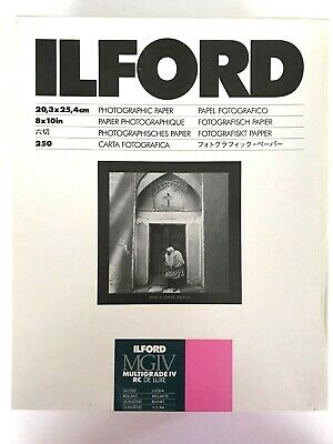 Ilford Multigrade Photographic Paper IV RC DeLuxe 8x10in. 250 Sheets **SEALED