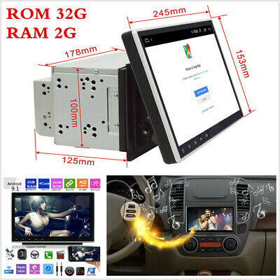 """10.1"""" 2 Din HD Car Stereo Radio 2G+32G Android 9.1 GPS Navigation WiFi 3G/4G BT"""