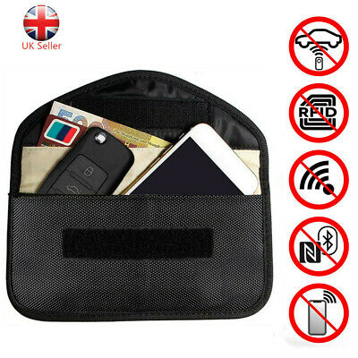 Large Faraday Bag Car Key Keyless Entry Fob Signal Guard Blocker Key Pouch RFID
