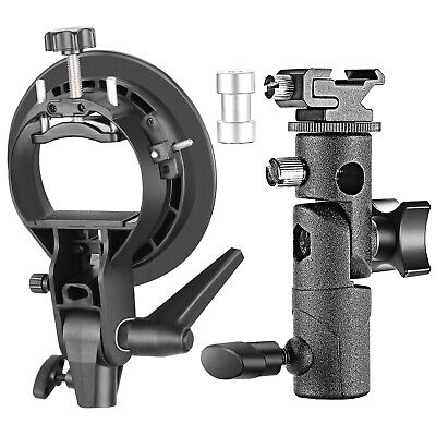 Neewer Professional Universal E-Type and S-Type Bracket Holder with Bowens Mount