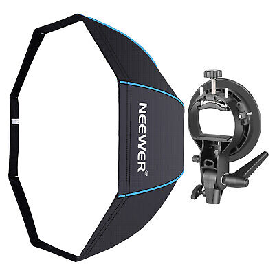 Neewer 32 inches/80 centimeters Octagonal Softbox with Blue Edges for Speedlite