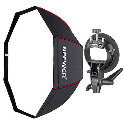 Neewer Octagonal Softbox with Red Edges, S-Type Bracket Holder and Carrying Bag