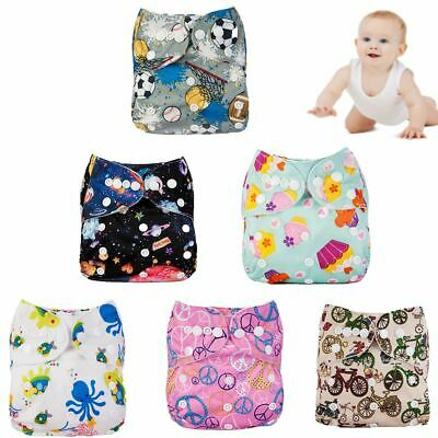 Infant Adjustable Washable Soft Baby Diaper Cloth Nappies Pocket Reusable