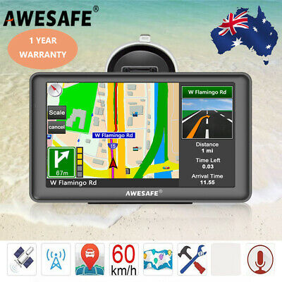 "7"" Awesafe Truck Car GPS Navigator Free AU Maps with Bluetooth and Back Camera"