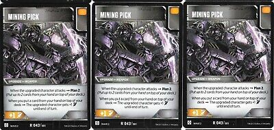 TRANSFORMERS TCG Rise of the Combiners Rare Battle Card MINING PICK x3