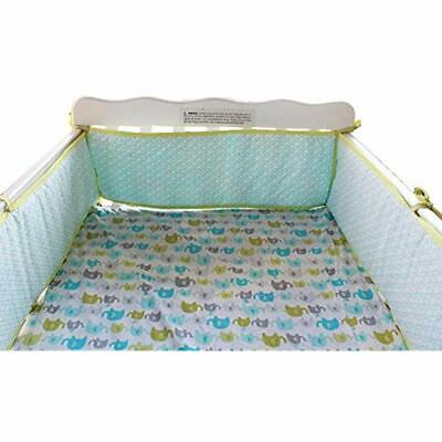 Baby Bumpers Safe Crib Pads For Standard Cribs Machine Washable Padded Liner Bed