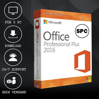 MS Office 2016 Professional Plus [Pro Plus] 1/5PC - 32&64 Bits - ESD per E-Mail