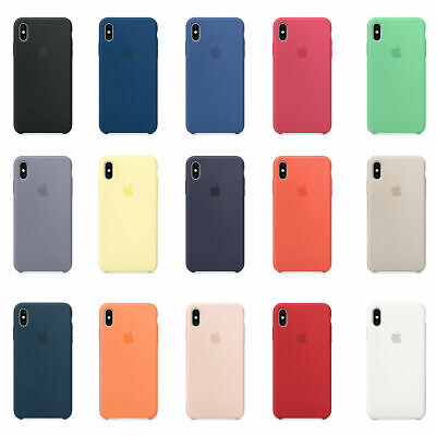 Original Genuine Hard Silicone Cover Case for Apple iPhone XS Max XR 8 7 6S+Plus