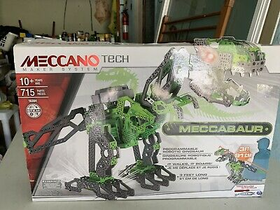 Meccano Maker System Meccasaur Buildable Programmable Robotic Dinosaur NEW