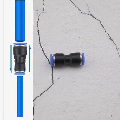 12Pcs Nylon Pneumatic Push Fit Connector Joiner Speed Fit Air Water Lines Hose