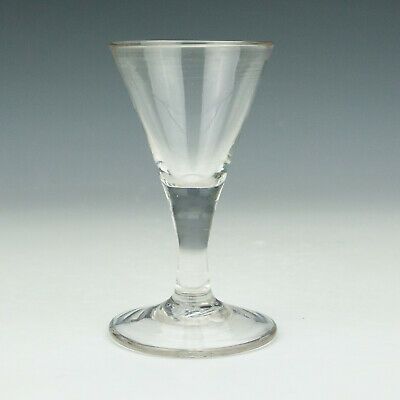 Antique English Victorian Glass - Hand Blown & Spun Drinking Ale Glass