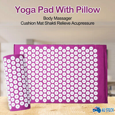New Massage Acupressure Mat Yoga Shakti Sit Lying Mats Cut Pain Stress Soreness