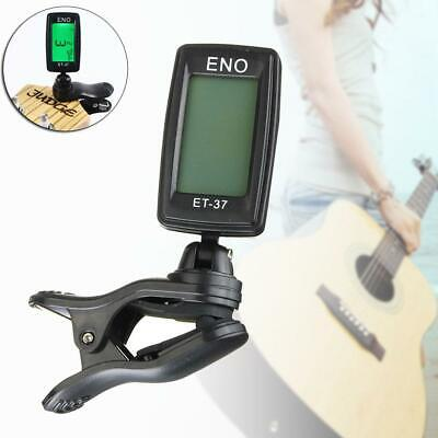 Chromatic Clip On Digital Tuner For Acoustic Electric Guitar Violin LCD GA