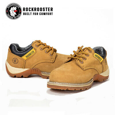 ROCKROOSTER Men's Work Boots Water Resistant Low-Cut Lace-up Safety Boots AP238
