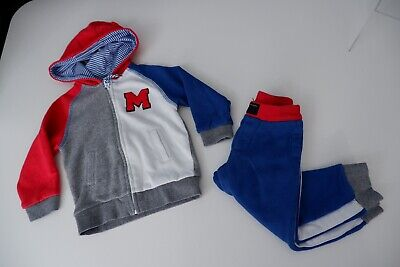 Little Marc Jacobs Boys Tracksuit, Hoodie & Bottoms, Size Age 2 Years, 86 Cm Vgc