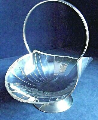 SUPERB ~ ART DECO ~ SILVER Plated ~ Fruit  BASKET ~ c1930 by William Hutton