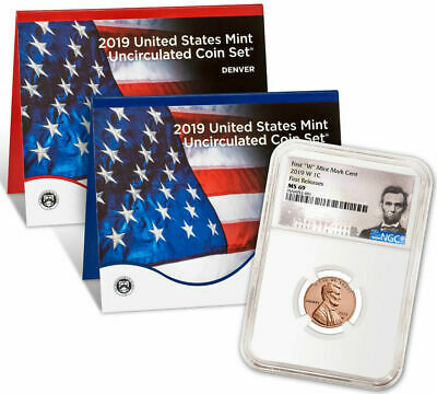 2019 W Lincoln Cent NGC MS69 Plus Sealed United States Mint Set Uncirculated