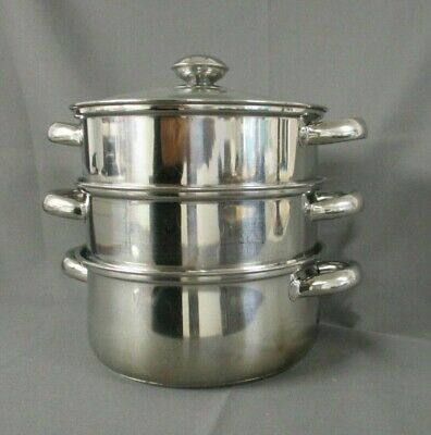 Judge Steamer - 3 Tier - Lidded - Kitchenalia - Vegetables - Cookery