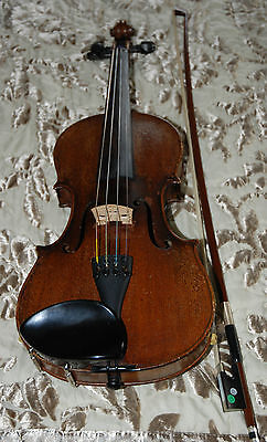 FINE ANTIQUE GERMAN VIOLIN rich sound lovely colour BOW and CASE included