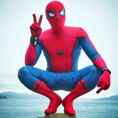 Spider-Man:Homecoming Tights Halloween Cosplay Costume 3D printed Adult Zentai