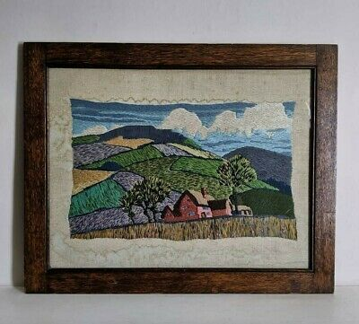 Vintage Framed Woolwork, Antique