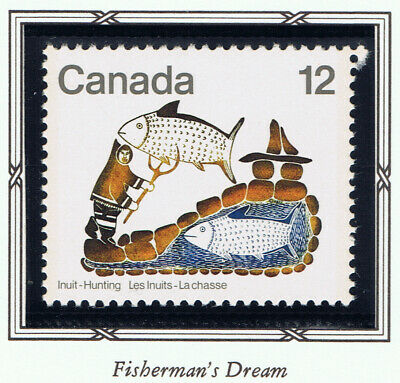Canada #749(1) 1977 12 cent INUIT HUNTING - FISHERMAN'S DREAM MNH