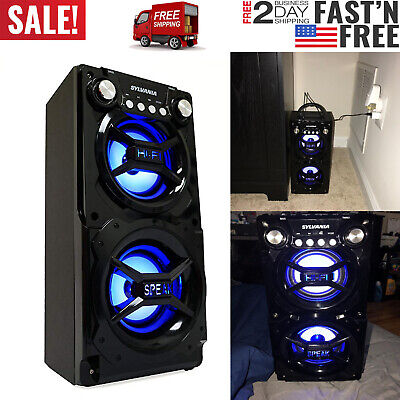 Wireless Speaker Stereo System Loudest Bluetooth Outdoor Loud Large AUX USB FM