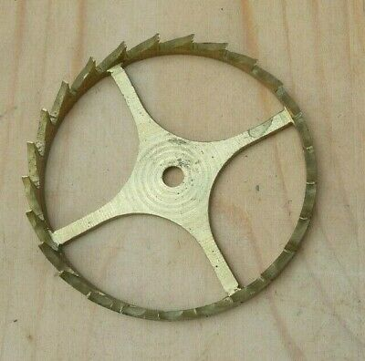 Two Large Verge Escape Wheels / Crown Wheels (crossed out)