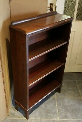 Victorian Solid Mahogany Bookcase  Adjustable Shelves  Excellent Condition