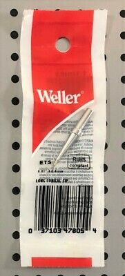 "Original Weller ETS 1/64"" Long Conical Soldering Iron Tip For WES51 PES51"