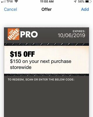 home depot coupons 15$ Off Expired 9/15