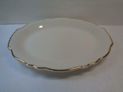 """Homer Laughlin Best China Oval Platter Tray 12.5"""" Restaurant ware Gold Scallop"""