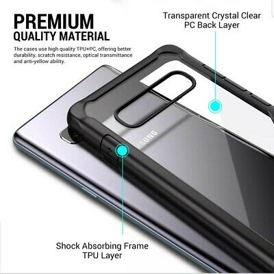 For Samsung Galaxy s10 plus Shockproof clear TPU + PC Bumper case cover