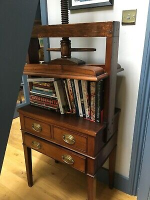 Victorian Edwardian Antique Mahogany Book Linen Press Chest of Drawers