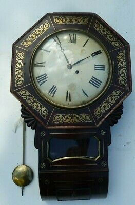 Regency Drop Dial Fusee Wall Clock (Timepiece) - For Restoration