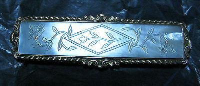 Superb Antique Victorian Carved Mother Of Pearl & Brass Gilt Buckle In Vgc