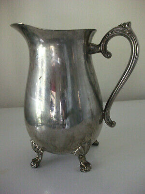 Vintage Leonard Silverplate Water/Beverage Pitcher W/Ice Lip, 8 Cups-Reduced