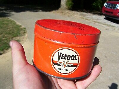 Vintage Veedol Grease Can Oil And Greases Flying A Tide water co. sign tydol old