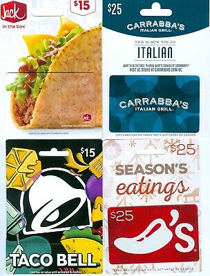 E9-9   4 Different Gift Cards On Backer Cards