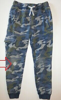 Mini Boden boy jersey joggers track pants cargo sweatpants pull on drawstring 9Y
