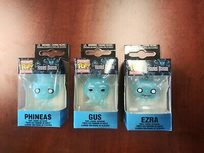 Funko Pops The HAUNTED MANSION POCKET KEYCHAIN HITCHHIKING GHOSTS LOT Target Exc